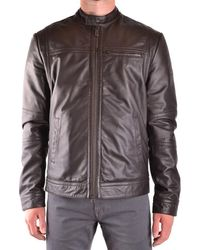 Peuterey Leather Outerwear Jacket - Brown
