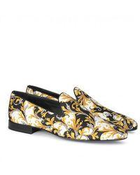 Versace Print Loafers - Black