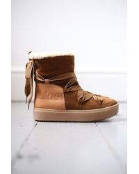 See By Chloé Mary Shearling Lace-up Snow Boots - Brown