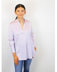 By Malene Birger Silk Overshirt Mabillon Lavender - Purple