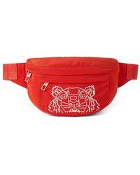 KENZO Tiger Belt Bag - Red