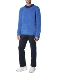 Marni Contrast Neckline Jumper - Blue