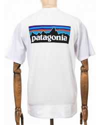 Patagonia P-6 Logo Responsibili Tee - White