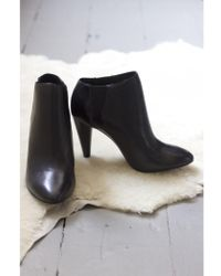Ash - Beverly Black Leather Heeled Boot - Lyst