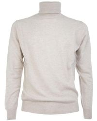 Ones Men's 00550756 White Cashmere Sweater