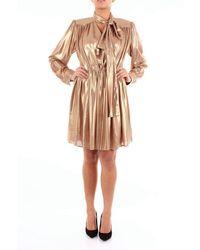 Isabelle Blanche Short Gold Dress - Metallic
