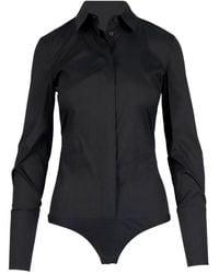 Patrizia Pepe Other Materials Bodysuit - Black