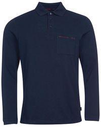 Barbour Elvin Tartan Trim Polo Shirt - Blue