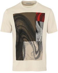 Z Zegna Mercerised Art Design T-shirt (beige) - Natural