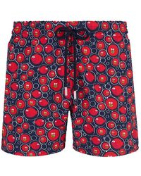 Vilebrequin Moorise Swim Short Stretch Crackers Navy - Blue