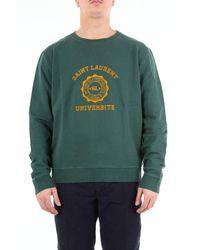 Saint Laurent Saint Laurent Dark Green Crewneck Sweatshirt - Grey