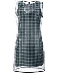 Helmut Lang Checked Printed Dress - Black