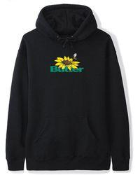 Butter Goods Sunflower Logo Pullover Hood - Black