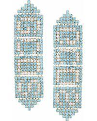 Gcds Women's Fw21w010136lb Light Blue Metal Earrings