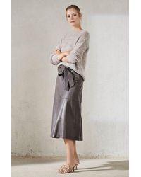 Luisa Cerano Skirt 538107 Dark Mineral Grey