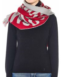Moschino Scarf With Logo Writing - Red