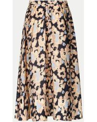 Second Female Ruth Skirt In An All Over Abstract Floral Print - Multicolour