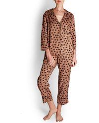 Love Stories Star Print Pyjama Top - Black