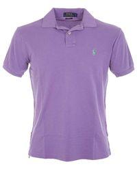 Ralph Lauren Men's A12xz7vyxy7vhxw7lp Purple Cotton Polo Shirt