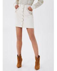Liu Jo Mini Skirt With Embroidery Jewel Liujo Jeans Core Wa1278t4760 20000 - White