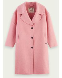 Scotch & Soda Wool Blend Unlined Coat - Pink