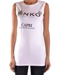 Pinko Tshirt No Sleeves - White