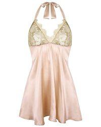 Gilda & Pearl Harlow Gold Lace Babydoll - Multicolour