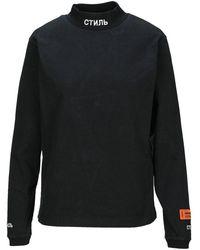 Heron Preston Turtleneck Logo T-shirt - Black