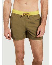 K-Way Hazel Bicolor Swim Shorts Green Dk Olive