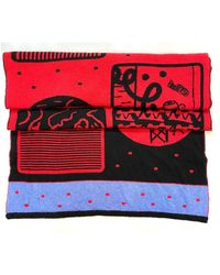 The West Village Scarf/travel Rug - Red