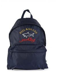 Paul & Shark Nylon Lgo Backpack - Blue