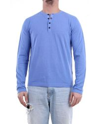 Heritage Long Sleeve T-shirt In Avion Colour - Blue