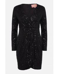 Amuse Society Amuse Black Merci Sequin Dress