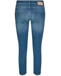 Mos Mosh Berlin Satin Jeans In Dni - Blue
