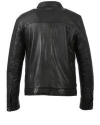 Oakwood Agent Classic Leather Jacket Colour: - Black
