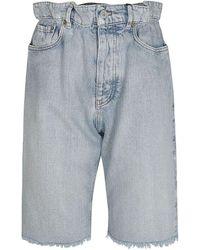 Miu Miu Light Cotton Shorts - Blue