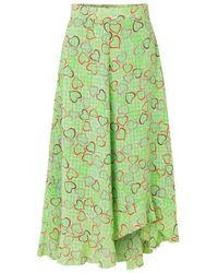 Stine Goya Marigold Skirt Hearts Green