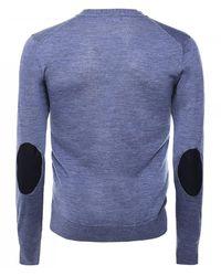 Hackett Merino Wool Button-through Cardigan - Blue