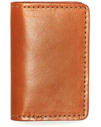 Filson Card Case Tan Leather - Brown