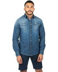 UNIFORM Men's 37unm5055600b29876 Blue Cotton Shirt