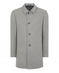 Remus Uomo Uomo Rowan Overcoat Grey Colour: Grey,