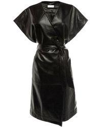 WEILI ZHENG Women's Wwzjg19nl9 Black Polyester Dress