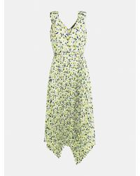 Guess Floral Print Dress With Pleats - Multicolour