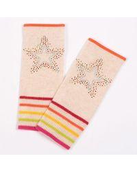 Adeela Salehjee Berlin Oatmeal Cashmere Fingerless Glove , Style:scatter Star - Gray