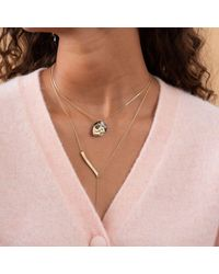 Akola Fearless Inspirational Chain Lariat Necklace With Horn - Metallic