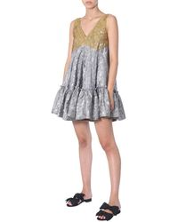 N°21 Nâo21 Dress With Ruches - Metallic