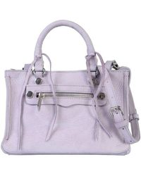 Rebecca Minkoff Women's Hh18enux61534 Purple Leather Handbag