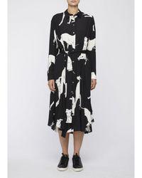Paul Smith Greyhound Dog Print Maxi Dress - Black