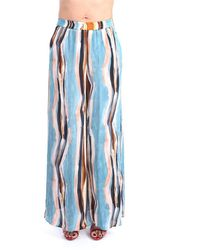 Beatrice B. . 21fe1300704285 Pantalone Palazzo Fantasia - Blue