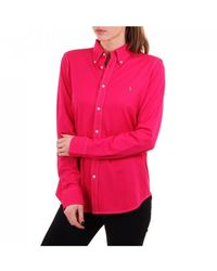 Polo Ralph Lauren Heidi Button Through Ls Top - Pink